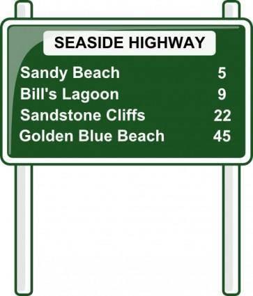 free vector Road Distances Sign clip art