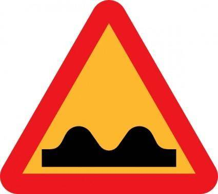 Speed Bump Sign clip art