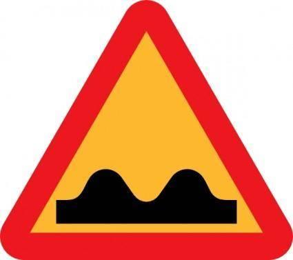 free vector Speed Bump Sign clip art