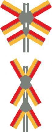 free vector Train Crossing Signals clip art