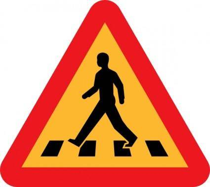 Pedestrian Crossing Sign clip art