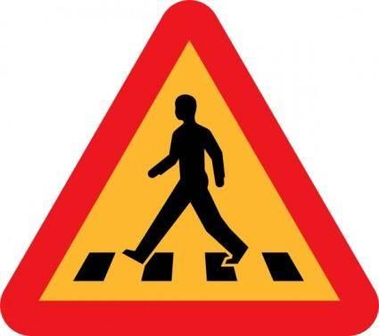 free vector Pedestrian Crossing Sign clip art