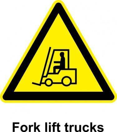 free vector Sign Fork Lift Trucks clip art