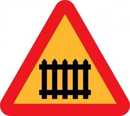 Fence Gate Roadsign clip art