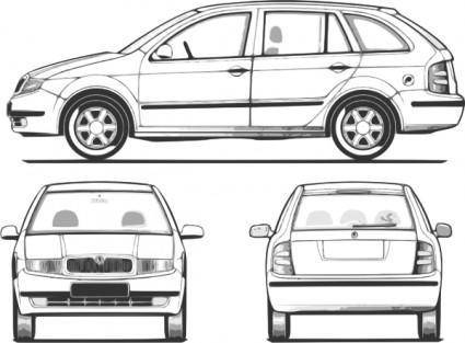 Fabia Car clip art