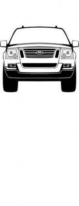 free vector Suburban Vehicle Front clip art