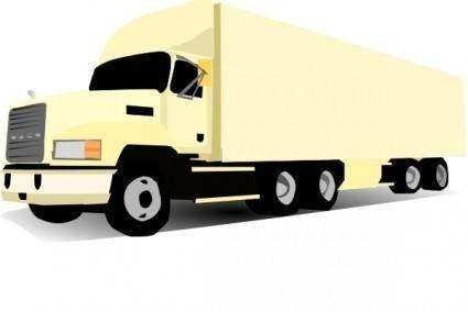 18 Wheeler Truck clip art