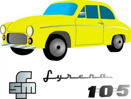 free vector Yellow Car Vehicle clip art