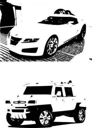 free vector White Cars clip art
