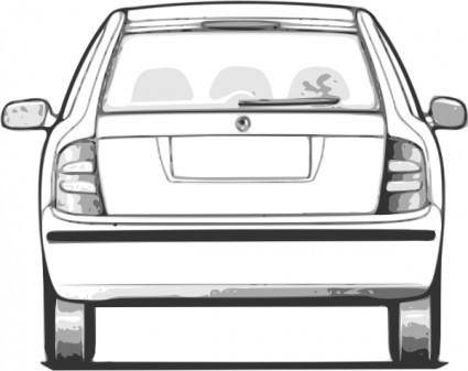 free vector Fabia Car Back View clip art