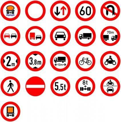 Roadsigns clip art