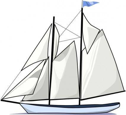free vector Boat Sail Sideways clip art