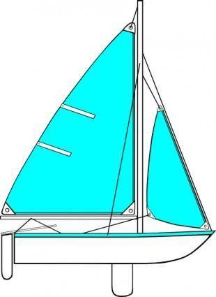 Sailboat Illustration clip art