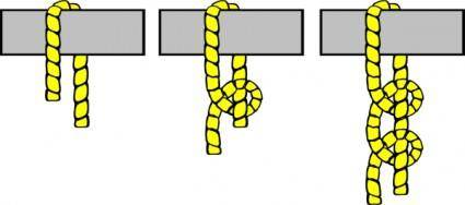 Knot Illustration (2 Half Hitches) clip art