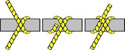 Knot Illustration (clove Hitch) clip art