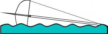 Capsized Sailing Illustration 1 clip art