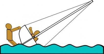 Capsized Sailing Illustration 5 clip art