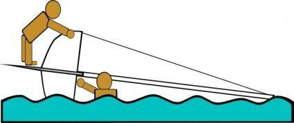 Capsized Sailing Illustration 4 clip art