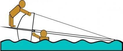 Capsized Sailing Illustration 4 clip art