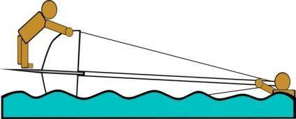 Capsized Sailing Illustration 3 clip art