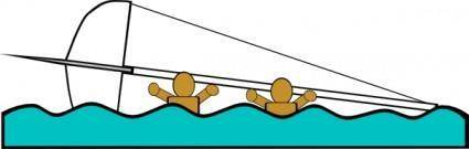 Capsized Sailing Illustration 2 clip art