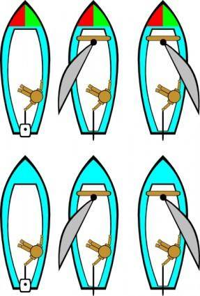 Boating Rules Illustration clip art