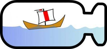 free vector The Mad Little Ship clip art