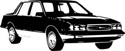 free vector 1989 Chevrolet Celebirty Sedan clip art