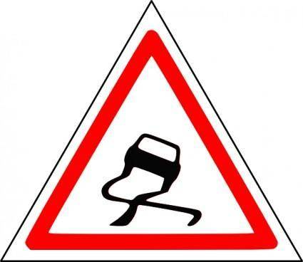 Slippery Road clip art
