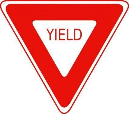 Yield Sign clip art