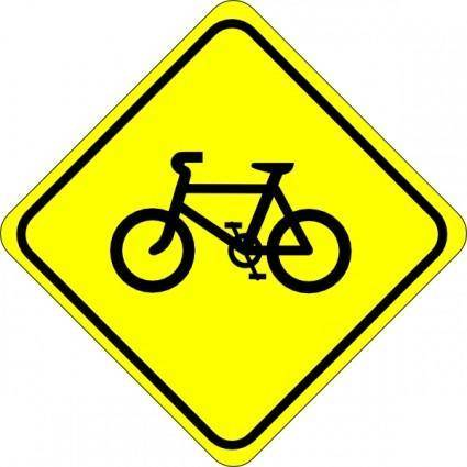 Watch For Bicycles Sign clip art