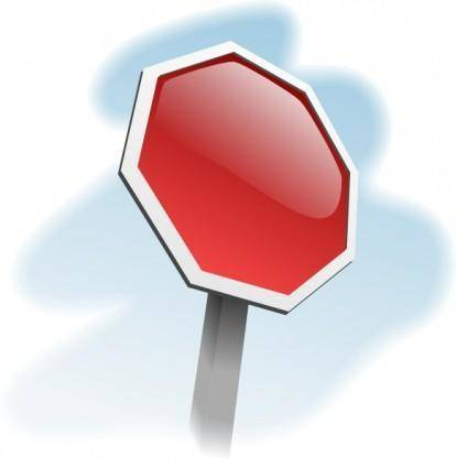 Stop-sign-angled clip art