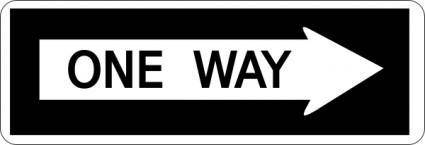 One Way Sign clip art