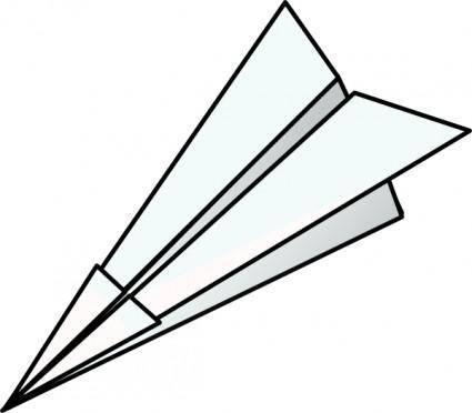 Toy Paper Plane clip art