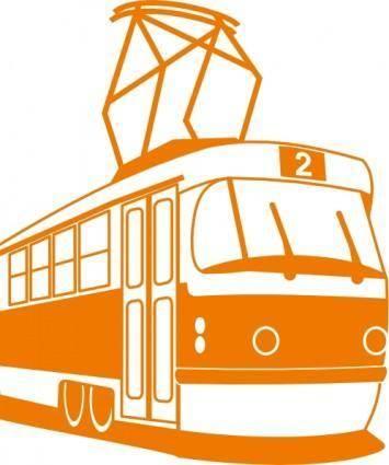 free vector Tramway clip art