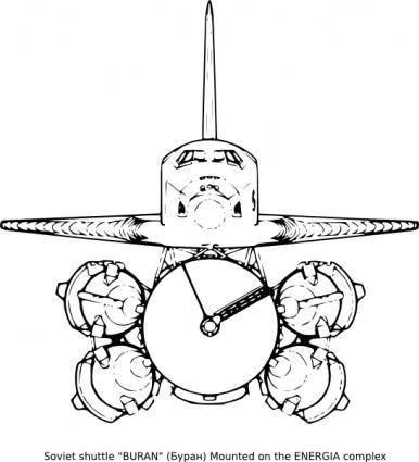 free vector Soviet Shuttle clip art