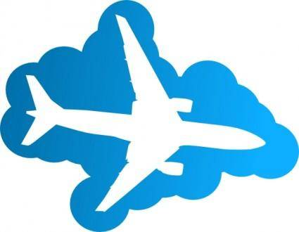 free vector Plane In The Sky clip art