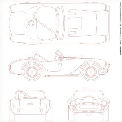 Shelby Cobra Blueprint clip art