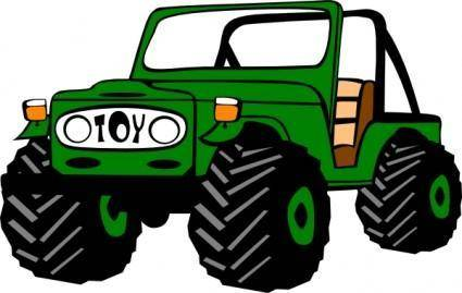 Toyota Land Cruiser clip art