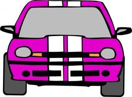 Dodge Neon (pink) clip art