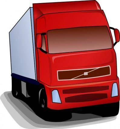 free vector Truck 18 Wheeler clip art