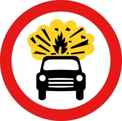 free vector Road Signs Car Explosion Kaboom clip art
