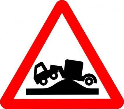 Road Signs High Road Bump clip art