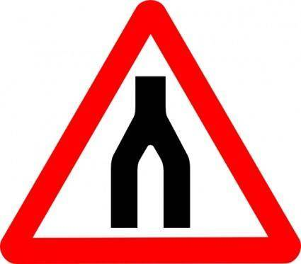 Road Signs Road Split Merge clip art