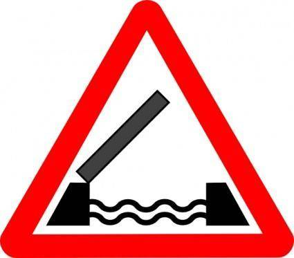 Road Signs Drawbridge clip art