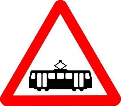 free vector Road Signs Tram clip art