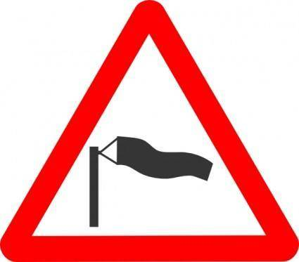 Road Signs Crosswind clip art