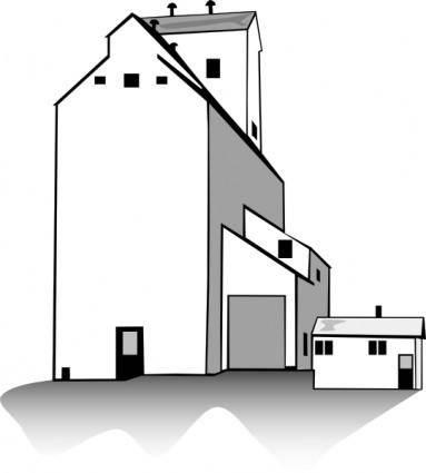 free vector Grain Elevator clip art