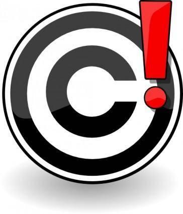 free vector Copyright Problem clip art