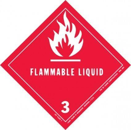 free vector Label For Dangerous Goods Class clip art